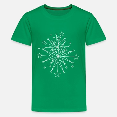 Crystal glittering wintry ice crystals - Teenage Premium T-Shirt