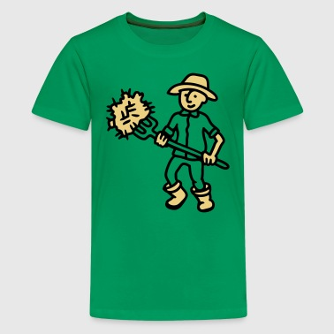 Landwirt Heu - Teenager Premium T-Shirt