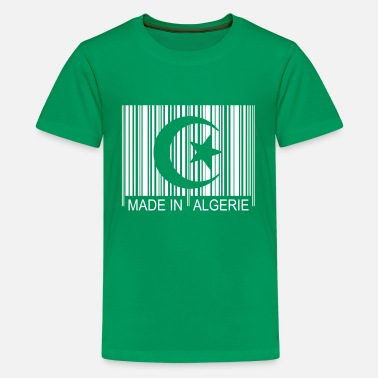 Code barre Made in ALGERIE 1c - Teenager Premium T-Shirt