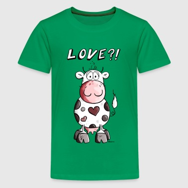 Love Cow - Teenage Premium T-Shirt
