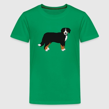 Bernese mountain dog head front - Teenage Premium T-Shirt