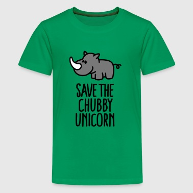 Save the chubby unicorn - Teenager Premium T-shirt