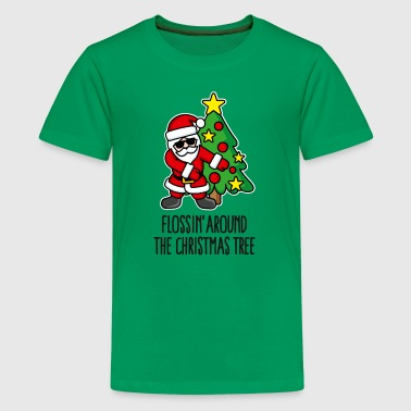 Flossin' around the Christmas tree Weihnachtsmann - Teenager Premium T-Shirt