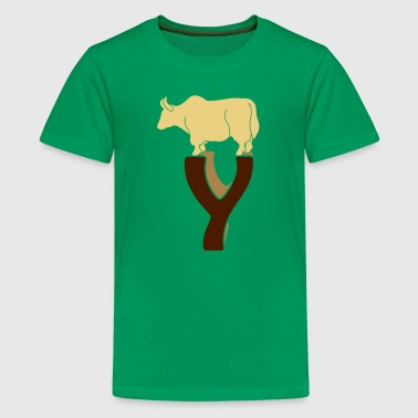tierisches Alphabet: das Yak - Teenager Premium T-Shirt