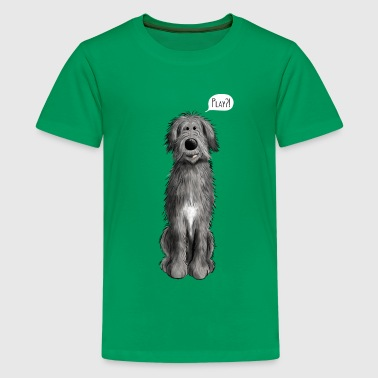 Irish Wolfhounds Irish Wolfhound Play - Dog - Dogs - Comic  - Teenage Premium T-Shirt