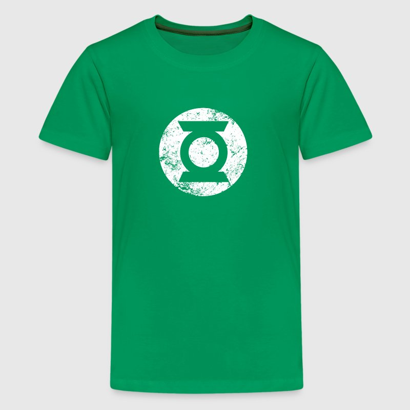 Green Lantern Logo white vintage - Teenager premium T-shirt