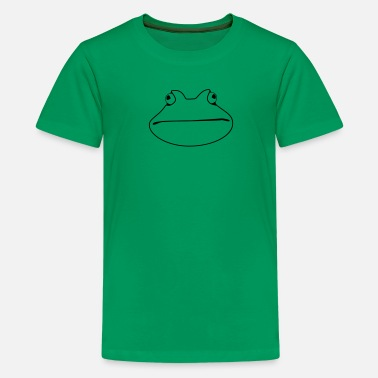 Wide Mouth Frog frog - Teenage Premium T-Shirt