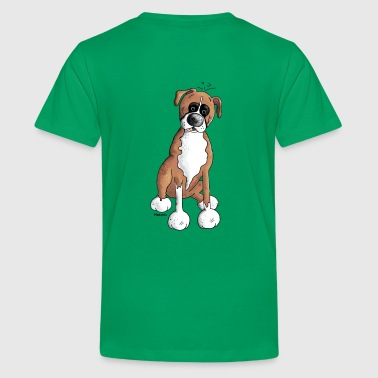 Deutscher Boxer - Hund  - Teenager Premium T-Shirt