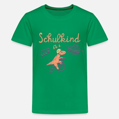 Schulkind - mit Dino - Teenager Premium T-Shirt