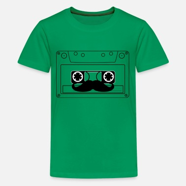 Retro Mustache 90s - Teenager Premium T-Shirt