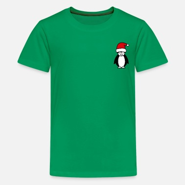 Christmas Xmas Penguin Pocket - Premium T-skjorte for tenåringer