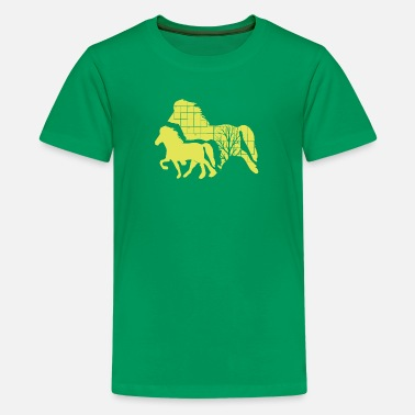 IJslands paard: IJslands paardenpaard Pony Merch - Teenager premium T-shirt