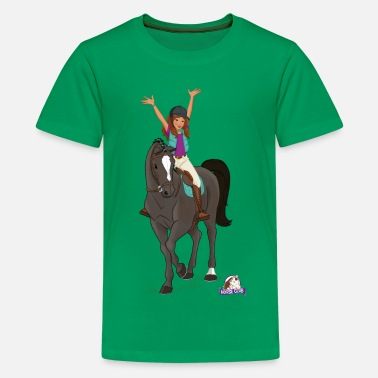 Hannoveranare Schleich Horse Club Lisa & Storm Pose - Premium-T-shirt tonåring