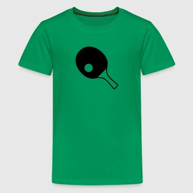 table tennis paddle - Teenage Premium T-Shirt