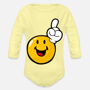 Eagerness Smiley Eager - Organic Long-Sleeved Baby Bodysuit