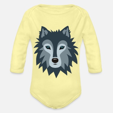 Wolf - Organic Long-Sleeved Baby Bodysuit