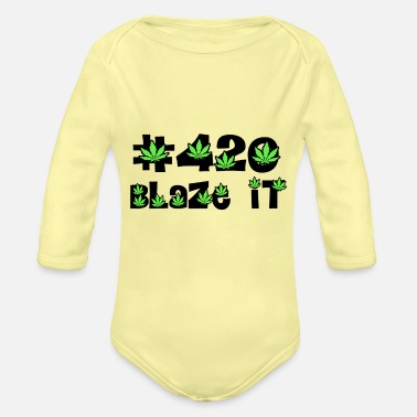 420 Day 420 blaze it all day kiffen - Baby Bio Langarmbody