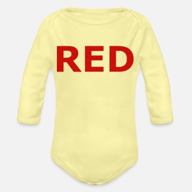 Red RED - Organic Long-Sleeved Baby Bodysuit