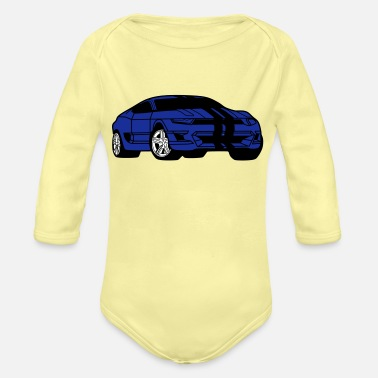 Autonaut 300th sports car - sports car - coupe - Organic Long-Sleeved Baby Bodysuit