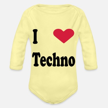Techno techno - Organic Long-Sleeved Baby Bodysuit