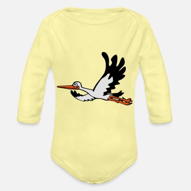 Stork Stork - Organic Long-Sleeved Baby Bodysuit