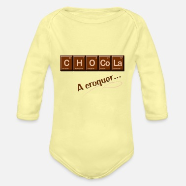 Chocolat Chocolat - Organic Long-Sleeved Baby Bodysuit