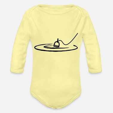 Angle Angling - Organic Long-Sleeved Baby Bodysuit