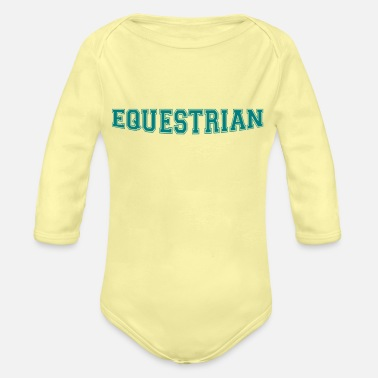 Writing Equestrian Writing - Body Bébé bio manches longues