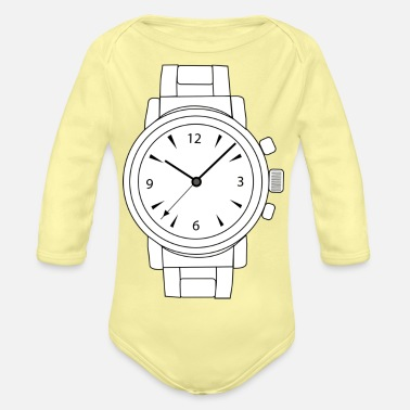 Watching watch - Organic Long-Sleeved Baby Bodysuit