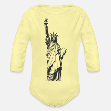 Statue Of Liberty statue of Liberty - Organic Long-Sleeved Baby Bodysuit