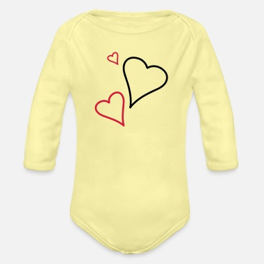 Tlc Couple of Hearts - Body Bébé bio manches longues
