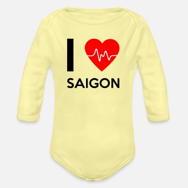 Saigon I Love Saigon - I Love Saigon - Organic Long-Sleeved Baby Bodysuit