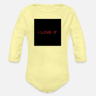 I Love It I LOVE IT ROUGE RED - Organic Long-Sleeved Baby Bodysuit
