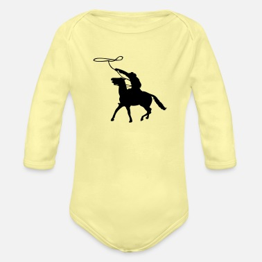 Lasso Cowboy with lasso - Organic Long-Sleeved Baby Bodysuit