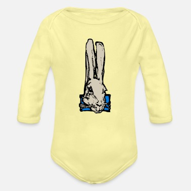 Close Up Rabbit Close Up - Organic Long-Sleeved Baby Bodysuit