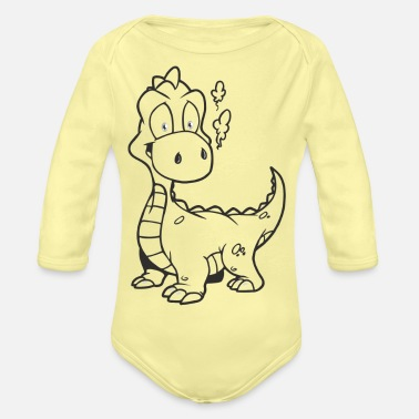 Boat Dragon - Organic Long-Sleeved Baby Bodysuit