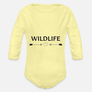 Trekking Clothing WILDLIFE - Organic Long-Sleeved Baby Bodysuit