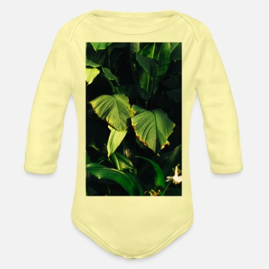 Botanical Botanical Art - Organic Long-Sleeved Baby Bodysuit