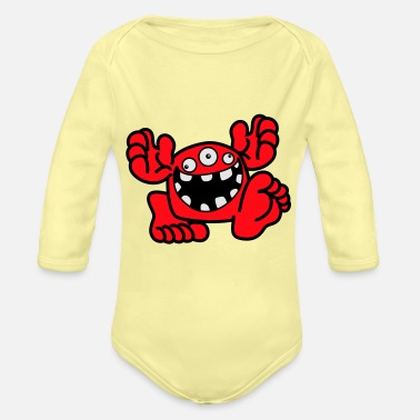 Proud To Be A Monster Cartoon by Cheerful Madness! - Organic Long-Sleeved Baby Bodysuit