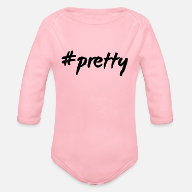 Pretty #pretty - Organic Long-Sleeved Baby Bodysuit