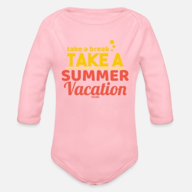 Blume Summer sea sun beach vacation gift - Organic Long-Sleeved Baby Bodysuit