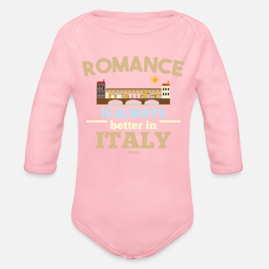 Naples Italy romance vacation love - Organic Long-Sleeved Baby Bodysuit