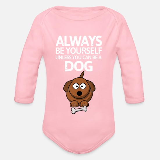 Always Baby Clothes - Always be youself! - Organic Long-Sleeved Baby Bodysuit light pink