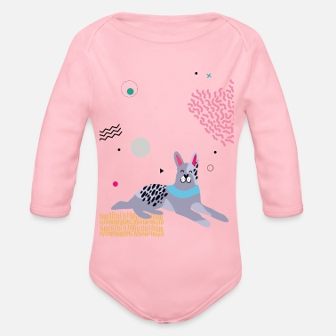 Dog Friendly Friendly dog - Organic Long-Sleeved Baby Bodysuit
