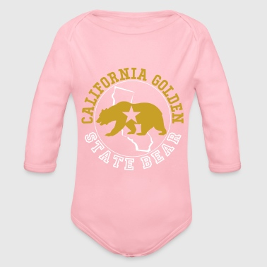 Californie Golden State Ours - Body bébé bio manches longues