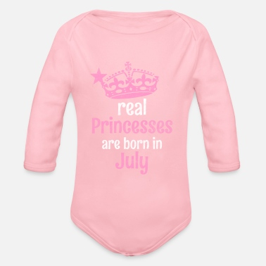 Eanf Real Princesses are born in # EANF # poison - Organic Long-Sleeved Baby Bodysuit