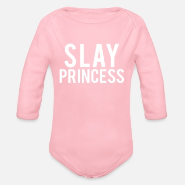 Cool Slay Princess Tshirt - Organic Long-Sleeved Baby Bodysuit