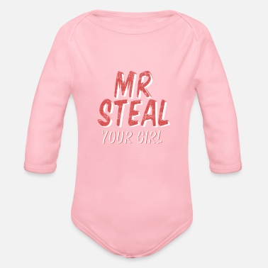 Steal Steal MR Your Girl - Organic Longsleeve Baby Bodysuit