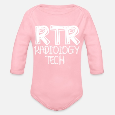RTR Radiology Tech - XRay Radiographer Gift - Organic Long-Sleeved Baby Bodysuit