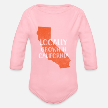 Californie Californie, Californie - Body bébé bio manches longues